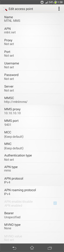 MTNL MMS APN settings for Android