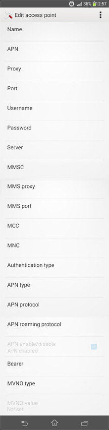 Videocon Internet APN settings for Android