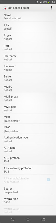 Exetel Internet APN settings for Android