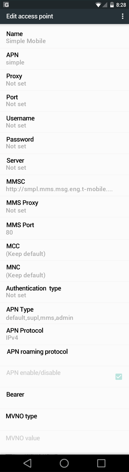 Simple Mobile Xiaomi Mi 6 Internet and MMS APN Settings ...
