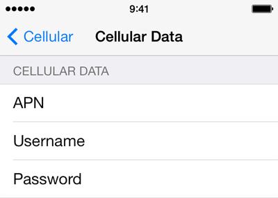 Virgin Mobile Internet APN settings for iOS8 screenshot