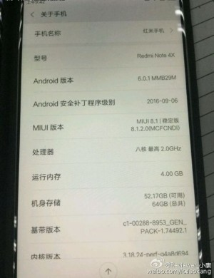 Xiaomi Redmi Note 4X